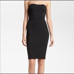 TILDON• Black Strapless Bustier Style Dress Size 6